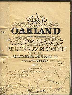 Map of Oakland and vicinity Alameda, Berkeley, Fruitvale and Piedmont