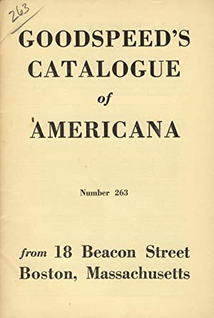 Goodspeed's catalogue of Americana [cover title]