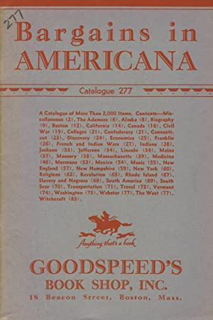 Bargains in Americana [cover title]