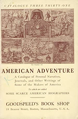 American adventure: A catalogue of personal narratives, journals, and other writings of some of t...