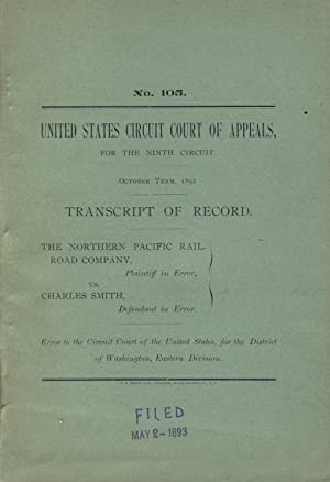 United States Circuit Court of Appeals, for the Ninth Circuit. October Term, 1892. Transcript of ...
