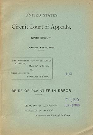 United States Circuit Court of Appeals, Ninth Circuit. October Term, 1892. The Northern Pacific R...