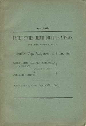 United States Circuit Court of Appeals, for the Ninth Circuit. Certified copy assignment of error...