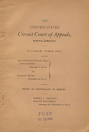 United States Circuit Court of Appeals, Ninth Circuit. October Term. 1893. The Northern Pacific R...