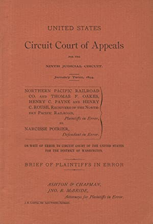 United States Circuit Court of Appeals for the Ninth Judicial Circuit. January Term, 1894. Northe...