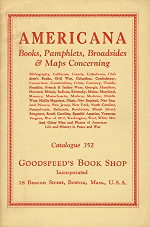 Americana: Books, pamphlets, broadsides & maps [cover title]