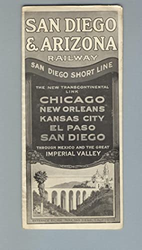 San Diego Short Line, the new transcontinental link, Chicago, New Orleans, Kansas City, El Paso, ...