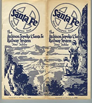 Santa Fe. Grand Canyon Line. The Atchison, Topeka & Santa Fe Railway System time tables [cover ti...