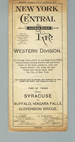New York Central & Hudson River RR. Western Division [panel title]