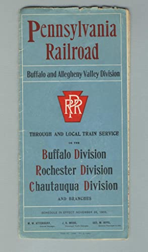 Pennsylvania Railroad. Buffalo and Allegheny Valley Division [panel title]