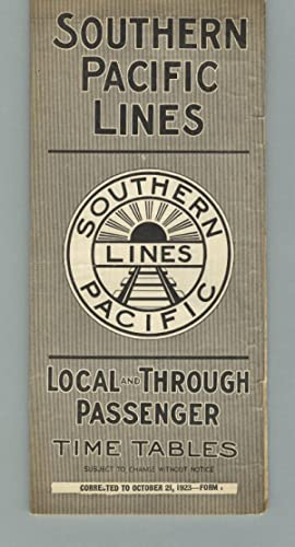 Southern Pacific Lines. Local and through passengers. Time tables [panel title]