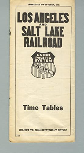 Los Angeles and Salt Lake road. Time tables [panel title]