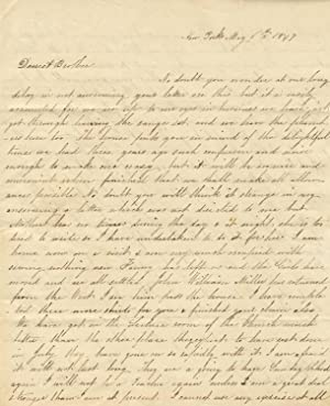 A collection of 21 letters to Lawrence Van Wyck from his father, John T. Van Wyck, of New York, a...