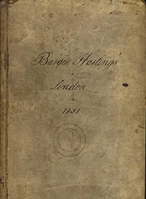 Journal written aboard the Barque Hastings bound from London to Calcutta and back again