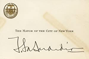 Autograph on card as mayor of New York