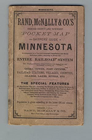 Rand, McNally & Co.'s Indexed county and township pocket map and shippers' guide of Minnesota