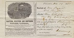 Adams & Co. Express / Eastern, Western and Northern Package Express, receipt on printed form