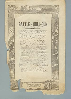 Battle of Bull-Run. Dedicated to the 69th Regiment, N.Y.S.M.