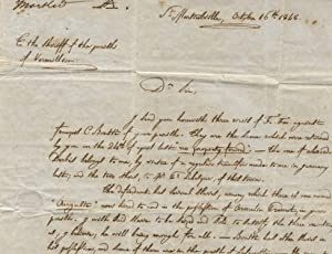 Autograph letter to H. Terry, sheriff of Vermillion Parish, concerning the seizure of a slave to ...