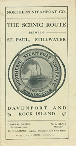 The scenic route between St. Paul, Stillwater, Davenport and Rock Island: Northern Steamboat Co