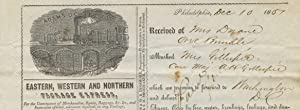 Adams & Co. Express / Eastern, Western and Northern Package Express, receipt on printed ...