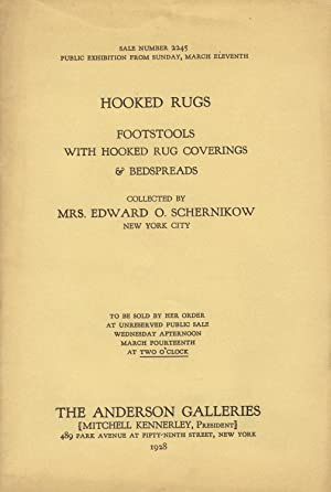 Hooked rugs, footstools with hooked rug coverings & bedspreads. Collected by Mrs. Edward O. ...
