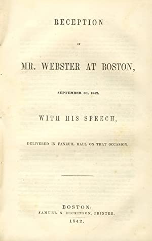 Speech of the Hon. Daniel Webster, on the subject of slavery; delivered in the United States Senate...