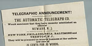 Telegraphic announcement!