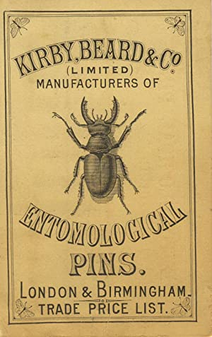 Entomological pins (sample card)