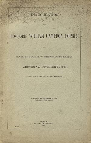 Inauguration of Honorable William Cameron Forbes as governor-general of the Philippine Islands, ...