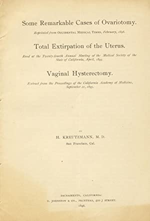"""Some remarkable cases of ovariotomy. Reprinted from """"Occidental Medical Times,"""" February,..."""