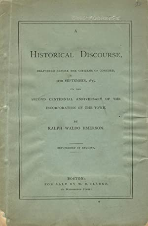 A historical discourse, delivered before the citizens of Concord, 12th September, 1835, on the se...