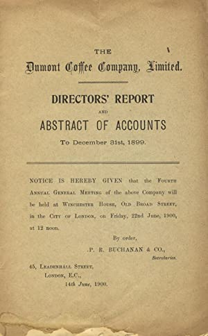 Directors' report and abstract of accounts to December 31st, 1899