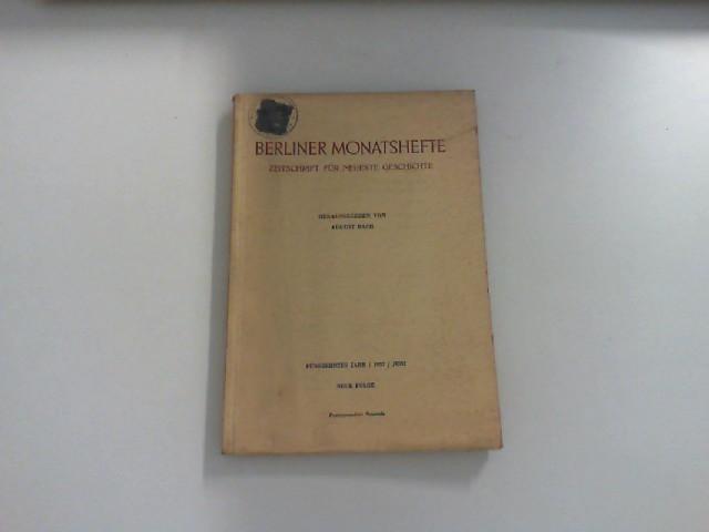 Berliner Monatshefte. Zeitschrift für neueste Geschichte. 15.: H. A. Münster: