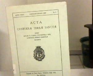 Acta Custodi Terra Sancta. Anno XXXI., Gennaio-Giugno