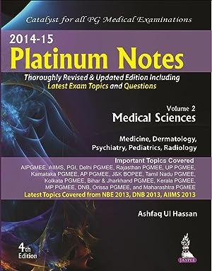 Medical Sciences (Platinum Notes) ( 4th Edition: Ashfaq Ul Hassan