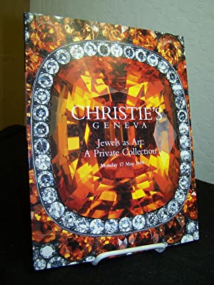 Christie?s Geneva, Jewels as Art: A Private Collection, Monday 17 May, 1999. With prices realized.:...