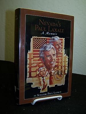 Nevada's Paul Laxalt; A Memoir.: Laxalt, Senator Paul.