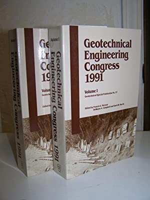 Geotechnical Engineering Congress 1991. (2 volumes).: McLean Francis G. (Editor).