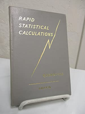 Rapid Statistical Calculations; A Collection of Distribution-free: Quenouille, M.H.