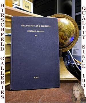 Philosophy and Politics: Russell, Bertrand