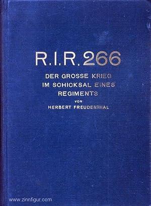 R.I.R. 266. Der Große Krieg im Schicksal: Freudenthal, H.