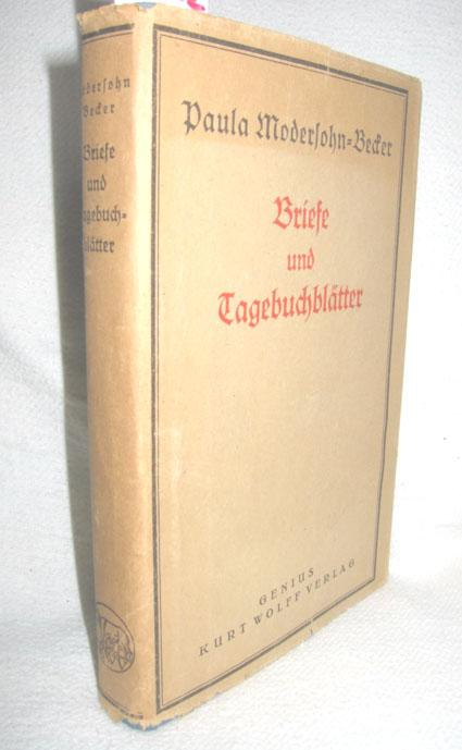 Briefe Und Tagebuchblätter Von Paula Modersohn Becker : Briefe und tagebuchblaetter von modersohn becker zvab