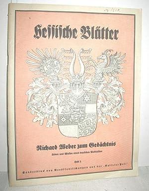 Hessische Blätter Heft 3: MENTZEL, HEINZ: