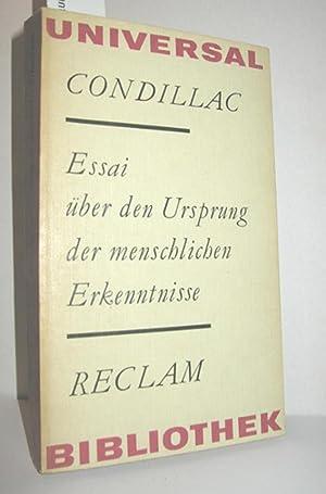 Essai über den Ursprung der menschlichen Erkenntnisse: CONDILLAC: