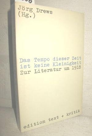Das Tempo dieser Zeit ist keine Kleinigkeit: DREWS, JÖRG (Hrsg.):