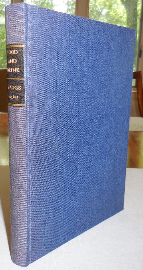 Food and Drink Through the Ages Catalogue 645 Cookery Reference - Maggs Bros Ltd [Assez bon] [Couverture rigide] Small quarto. Essential reference work on books and ephemera related to the world of food and drink. Published by the esteemed book firm of Maggs Bros. back in 1937. Original covers present. This copy has been bound into a substantial navy cloth binding with black label at spine printed in gilt. A well preserved copy of this important reference work.