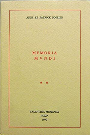 Memoria Mvndi: Art - Poirier, Anne Et Patrick