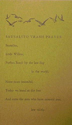 Sausalito Trash Prayer (Poetry Postcard): Welch, Lew