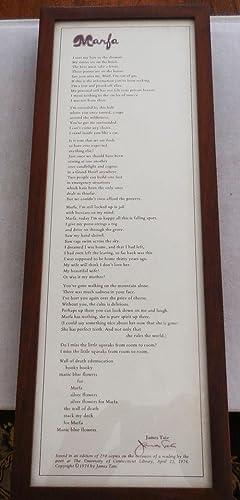 Marfa (Signed Broadside Poem): Tate, James
